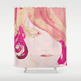 Dreaming in pink Shower Curtain