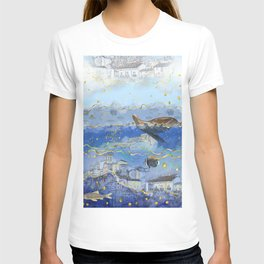 On Earth as It Is in Heaven? - Surreal Climate Change Art T-shirt