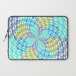 Vintage Whirlwind Spiral Quilt Patchwork Laptop Sleeve