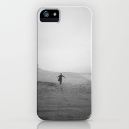 Flying with the Birds in Black and White - Holga Photograph on Chincoteague Island iPhone Case