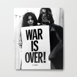 Darth Vader with Yoko Ono Metal Print