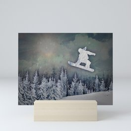 The Snowboarder Mini Art Print