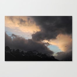 Clouds vs Mountain Canvas Print