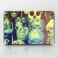 skulls iPad Cases featuring skulls by Bunny Noir