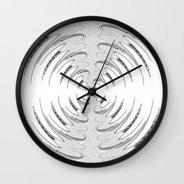 Double Mirrored Horns Wall Clock