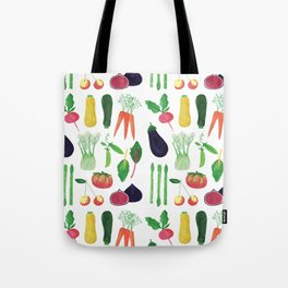 Farmers Market Produce Pattern Tote Bag