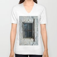 window V-neck T-shirts featuring window by habish