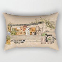 Green Invasion Rectangular Pillow