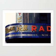 Radio City Music Hall NYC Art Print