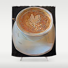 Not Your Ordinary Coffee Shower Curtain