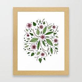 Hanging Among the Flowers & Leaves Framed Art Print
