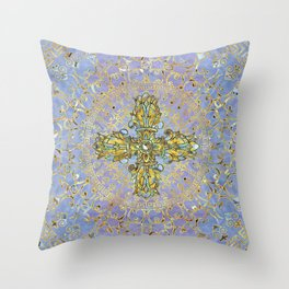 Double Dorje - Vishvavajra  -Vajra Throw Pillow