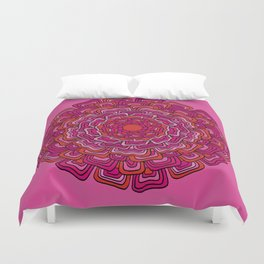 Pink Orange Mandala Duvet Cover