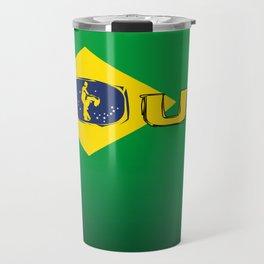 colors of brazil - lets dance brazilian zouk Travel Mug