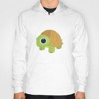 sea turtle Hoodies featuring Turtle by Adamzworld