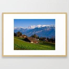Panorama from Beatenberg Framed Art Print