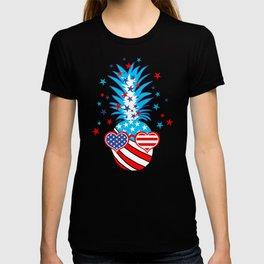 Funny Patriotic Pineapple T-shirt