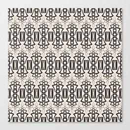 Art Deco 12 . Black and beige pattern . Canvas Print