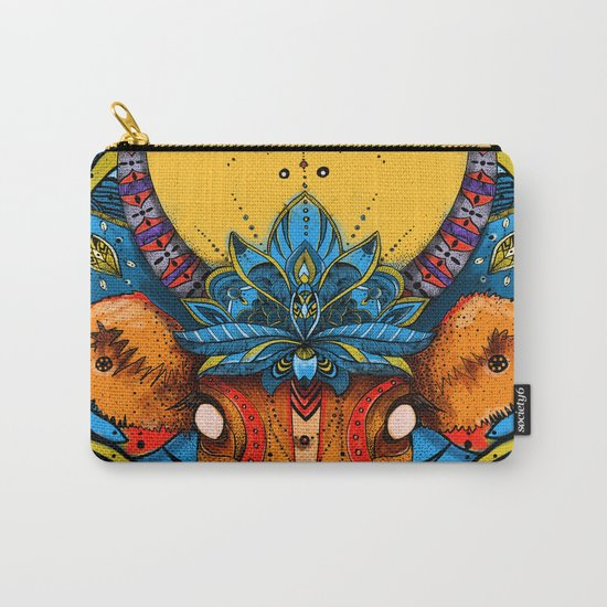 Holy Cow! Blue Lotus Mandala. Carry-All Pouch
