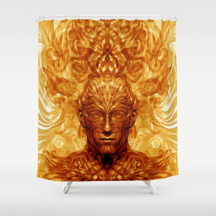 Shamannic Illumination Shower Curtain