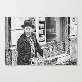 The Organ Grinder Canvas Print