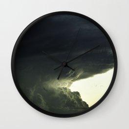 Edge of Storm Wall Clock