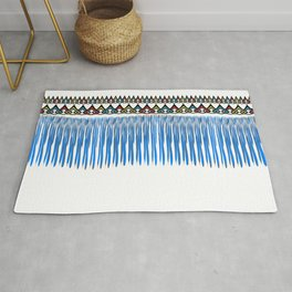 Blue threads design Rug
