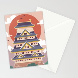Japanese Castle Illustration Stationery Cards