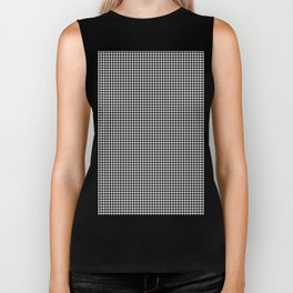 Classic Vintage Black and White Houndstooth Pattern Biker Tank