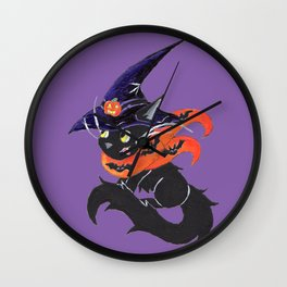 Witch City Kitty Wall Clock