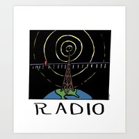 radio Art Prints featuring Radio by Ken Coleman