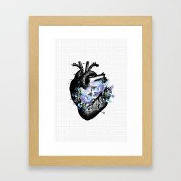 Diamond hearts can even be broken Framed Art Print