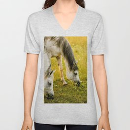horse by cancan cop Unisex V-Neck