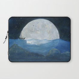 The whale and the Moon Laptop Sleeve