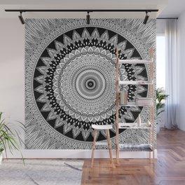 Black and White Mandala Two Wall Mural