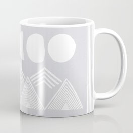 """""""In the Mountains"""" - Moon Phases and Mountain Line Art  Coffee Mug"""
