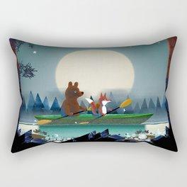 Bear and Fox Rectangular Pillow