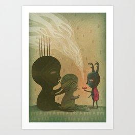It Won't Be Long (Below the Soil Floor) Art Print