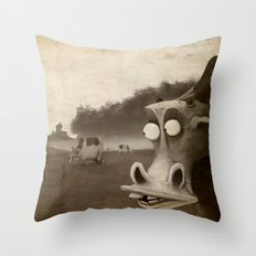 a morning without sun Throw Pillow