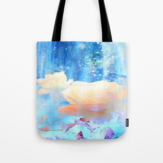 Yellow Roses By The Bridge By Annie Zeno Tote Bag