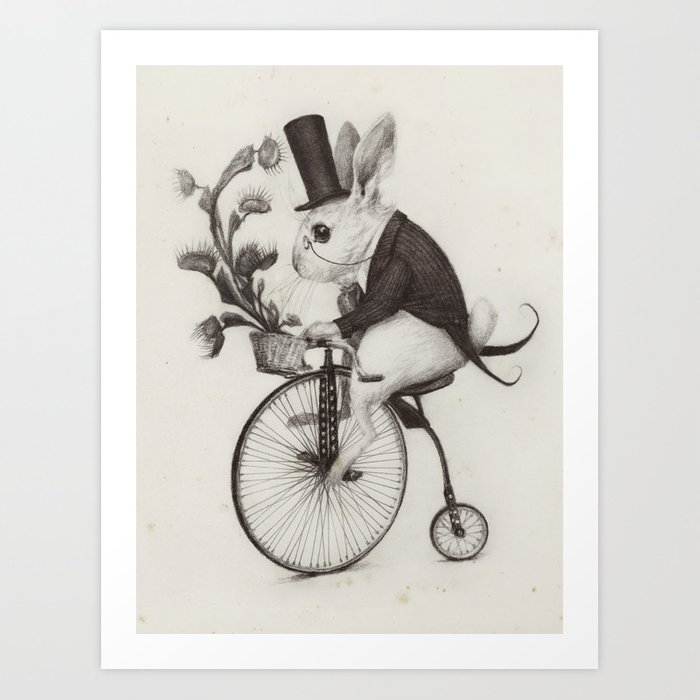 Delivery Rabbit  Art Print