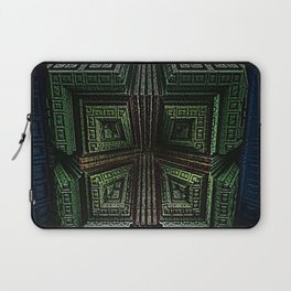 Cubic Squares Blue, green, yellow, and red abstract art by Jeanpaul Ferro Laptop Sleeve