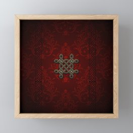 Decorative celtic knot Framed Mini Art Print