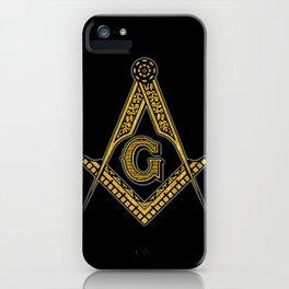 Freemason (Black & Gold) iPhone Case