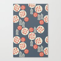 confetti Canvas Prints featuring confetti by jennifer judd-mcgee