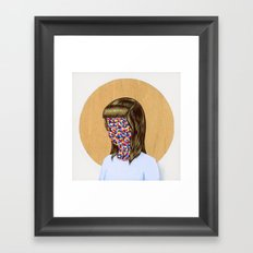 6x6 Woman Framed Art Print
