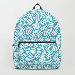 Field of daisies - teal Backpack