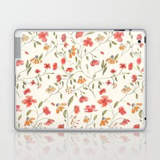 Red and Orange Vintage Floral Pattern Laptop & iPad Skin