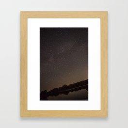 Watson Lake at Night Framed Art Print