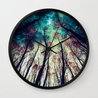 nordic Wall Clocks featuring NORDIC LIGHTS by RIZA PEKER